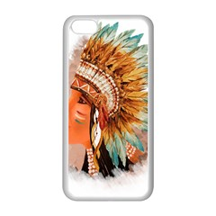 Native American Young Indian Shief Apple iPhone 5C Seamless Case (White)