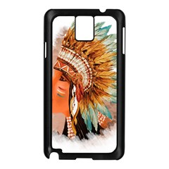 Native American Young Indian Shief Samsung Galaxy Note 3 N9005 Case (Black)
