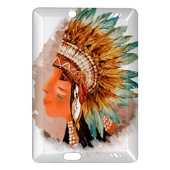 Native American Young Indian Shief Amazon Kindle Fire HD (2013) Hardshell Case