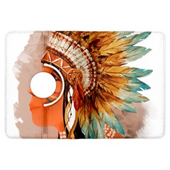 Native American Young Indian Shief Kindle Fire Hdx Flip 360 Case