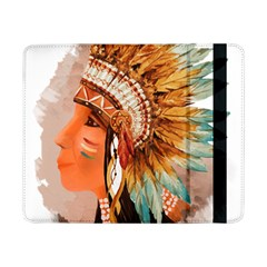 Native American Young Indian Shief Samsung Galaxy Tab Pro 8 4  Flip Case