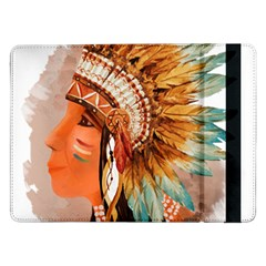 Native American Young Indian Shief Samsung Galaxy Tab Pro 12 2  Flip Case