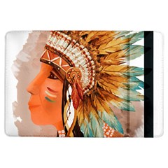 Native American Young Indian Shief iPad Air Flip