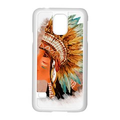 Native American Young Indian Shief Samsung Galaxy S5 Case (white)