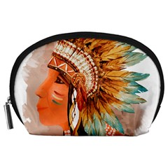 Native American Young Indian Shief Accessory Pouches (large)