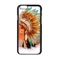 Native American Young Indian Shief Apple iPhone 6/6S Black Enamel Case