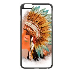 Native American Young Indian Shief Apple Iphone 6 Plus/6s Plus Black Enamel Case