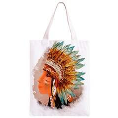 Native American Young Indian Shief Classic Light Tote Bag
