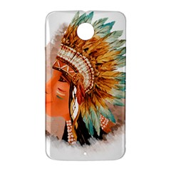 Native American Young Indian Shief Nexus 6 Case (White)