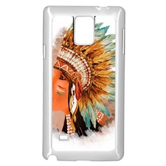 Native American Young Indian Shief Samsung Galaxy Note 4 Case (White)