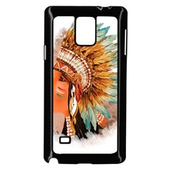 Native American Young Indian Shief Samsung Galaxy Note 4 Case (Black)