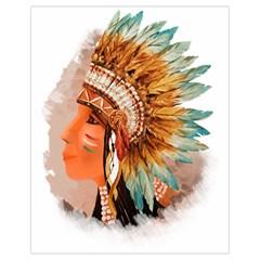 Native American Young Indian Shief Drawstring Bag (Small)