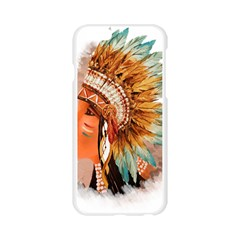 Native American Young Indian Shief Apple Seamless iPhone 6/6S Case (Transparent)