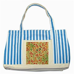 Elegant Floral Seamless Pattern Striped Blue Tote Bag