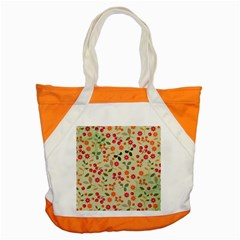 Elegant Floral Seamless Pattern Accent Tote Bag
