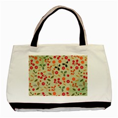 Elegant Floral Seamless Pattern Basic Tote Bag (two Sides)