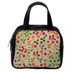 Elegant Floral Seamless Pattern Classic Handbags (one Side)