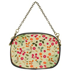 Elegant Floral Seamless Pattern Chain Purses (one Side)