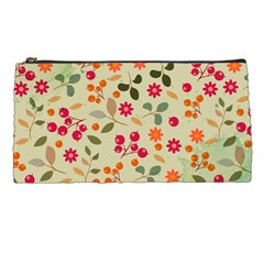 Elegant Floral Seamless Pattern Pencil Cases