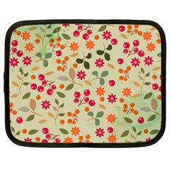 Elegant Floral Seamless Pattern Netbook Case (XL)