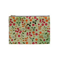 Elegant Floral Seamless Pattern Cosmetic Bag (Medium)