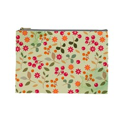 Elegant Floral Seamless Pattern Cosmetic Bag (Large)