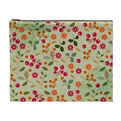Elegant Floral Seamless Pattern Cosmetic Bag (XL)