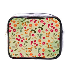 Elegant Floral Seamless Pattern Mini Toiletries Bags