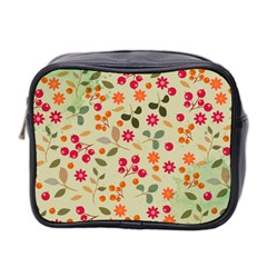 Elegant Floral Seamless Pattern Mini Toiletries Bag 2-Side