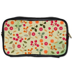 Elegant Floral Seamless Pattern Toiletries Bags 2-Side