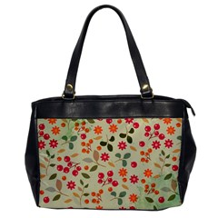 Elegant Floral Seamless Pattern Office Handbags