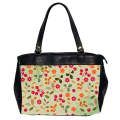 Elegant Floral Seamless Pattern Office Handbags (2 Sides)