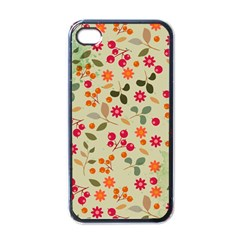 Elegant Floral Seamless Pattern Apple Iphone 4 Case (black)