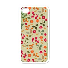 Elegant Floral Seamless Pattern Apple iPhone 4 Case (White)