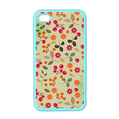 Elegant Floral Seamless Pattern Apple Iphone 4 Case (color)