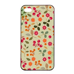 Elegant Floral Seamless Pattern Apple Iphone 4/4s Seamless Case (black)