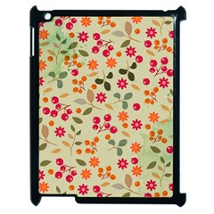 Elegant Floral Seamless Pattern Apple Ipad 2 Case (black)