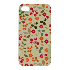 Elegant Floral Seamless Pattern Apple iPhone 4/4S Premium Hardshell Case
