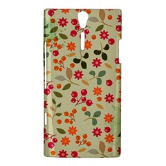 Elegant Floral Seamless Pattern Sony Xperia S