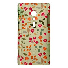 Elegant Floral Seamless Pattern Sony Xperia ion