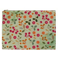 Elegant Floral Seamless Pattern Cosmetic Bag (xxl)