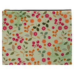 Elegant Floral Seamless Pattern Cosmetic Bag (xxxl)