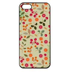 Elegant Floral Seamless Pattern Apple iPhone 5 Seamless Case (Black)