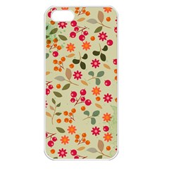 Elegant Floral Seamless Pattern Apple iPhone 5 Seamless Case (White)
