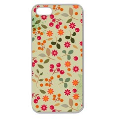 Elegant Floral Seamless Pattern Apple Seamless Iphone 5 Case (clear)