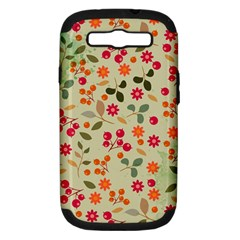 Elegant Floral Seamless Pattern Samsung Galaxy S Iii Hardshell Case (pc+silicone)