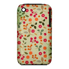 Elegant Floral Seamless Pattern Apple iPhone 3G/3GS Hardshell Case (PC+Silicone)