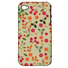Elegant Floral Seamless Pattern Apple iPhone 4/4S Hardshell Case (PC+Silicone)