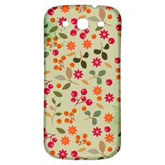 Elegant Floral Seamless Pattern Samsung Galaxy S3 S Iii Classic Hardshell Back Case