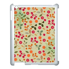 Elegant Floral Seamless Pattern Apple Ipad 3/4 Case (white)